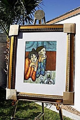 """Authentic """"Harlequin and His Companion"""" - Picasso -"""