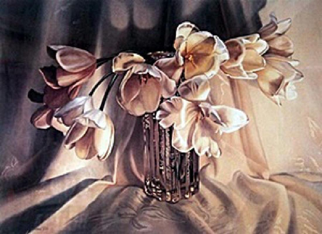 "Lithograph ""Tulips""  Barbara Beur"