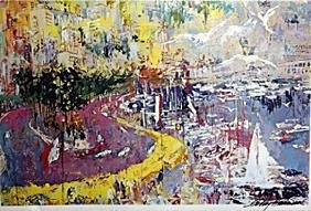 The Grand Prix de Monaco - LeRoy Neiman