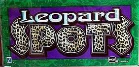 "Vintage Collectible Casino Slot Machine Glass ""Leopard"