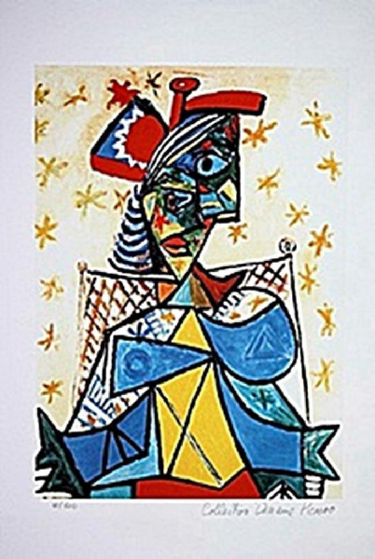Picasso Limited Edition - Seated Woman With A Red And