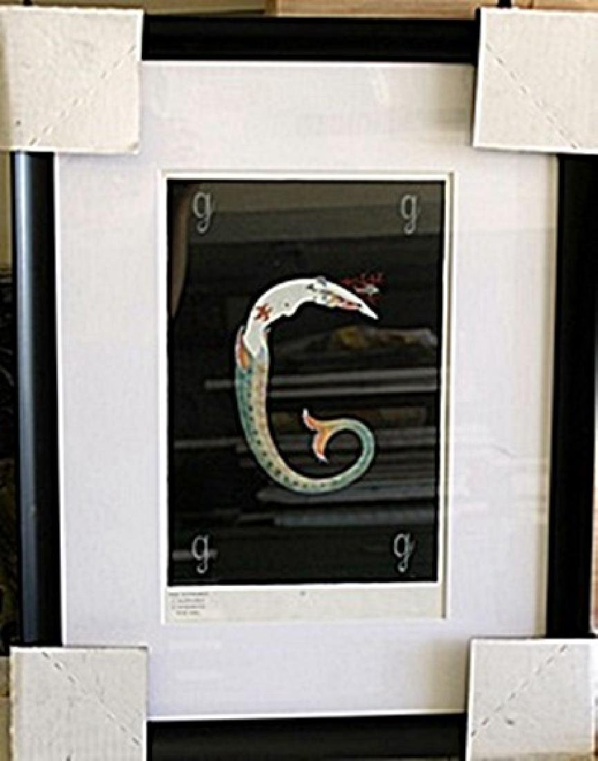 "Framed Lithograph ""Letter G"" by Erte"