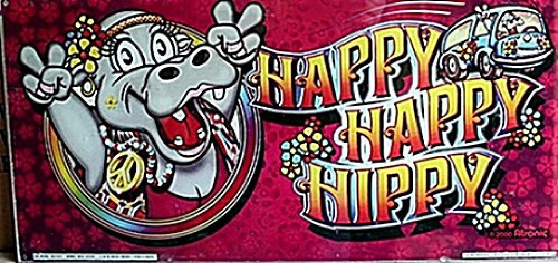 "Vintage Collectible Casino Slot Machine Glass ""Happy"