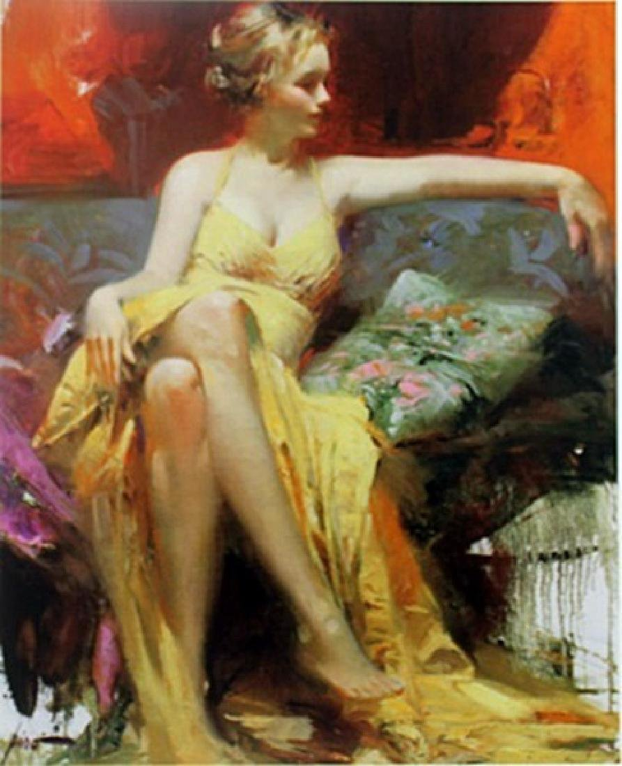 "Giclee on Paper ""Lady in Waiting""  Pino (48ZI)"