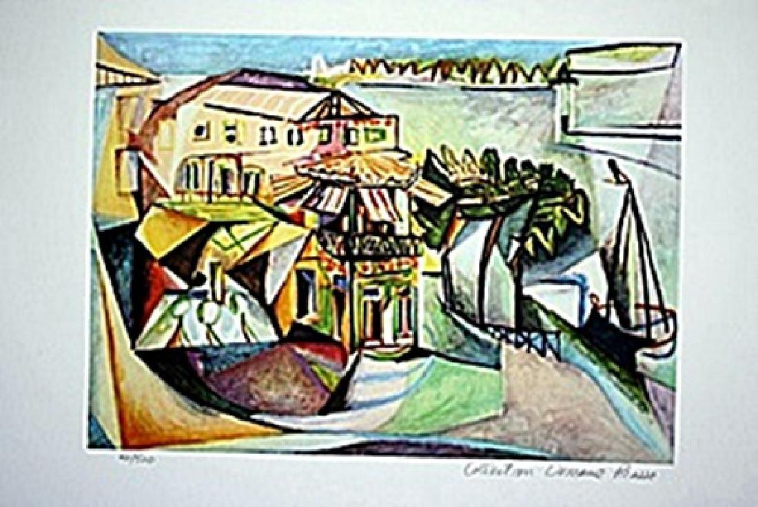 Picasso Limited Edition - Cafe In Royan - from
