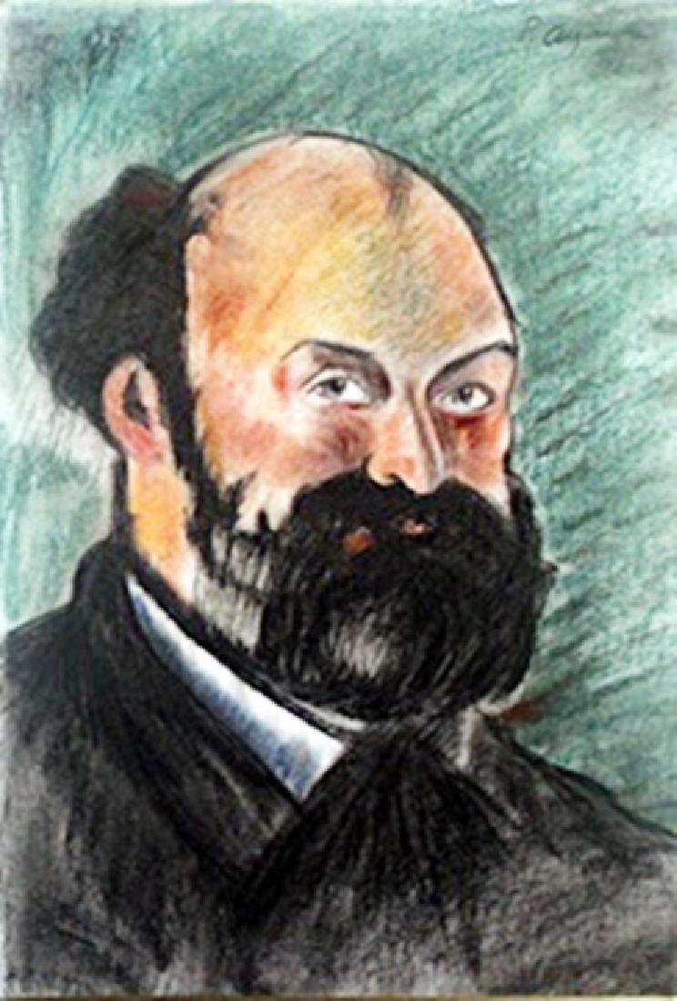 Pastel Drawing  Paul Cezanne