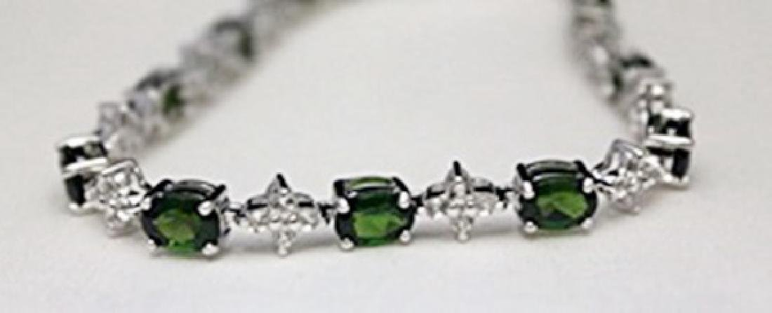 Very Fancy Silver Bracelet with Russian Chrome Diopside