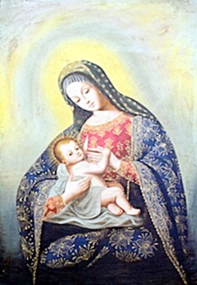 """Virgen De La Leche"" Oil Painting attributed to Diego"