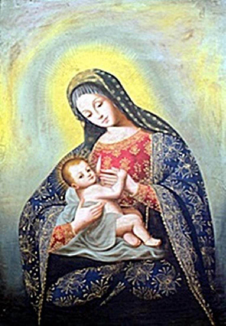 """Virgen De La Leche"" Oil Painting attributed to Diego"