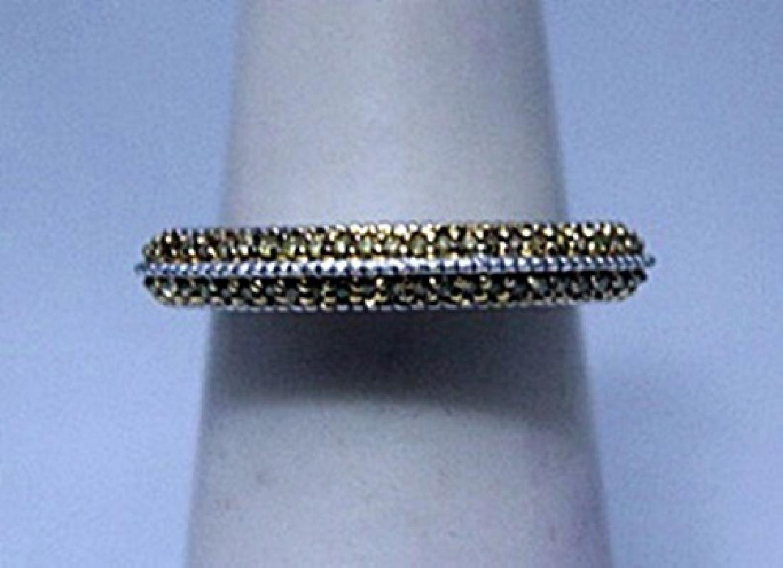 Dazzling Champagne Diamonds Silver Ring