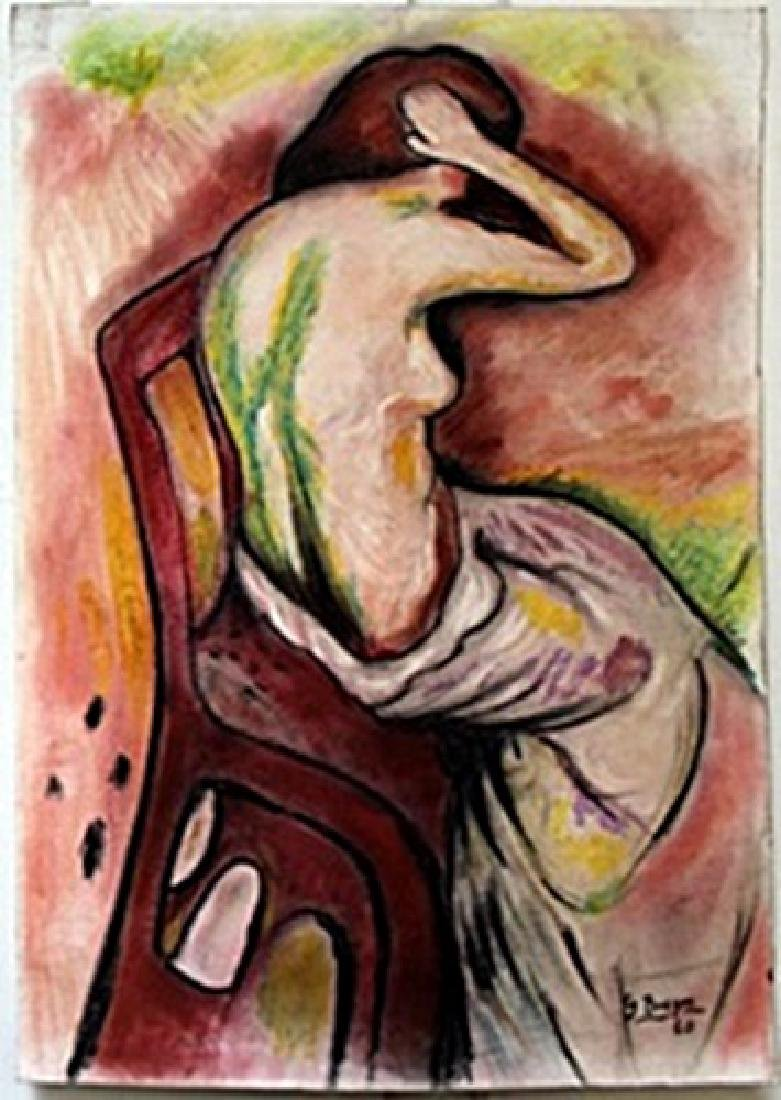 Pastel Painting on Paper  Georges Braque