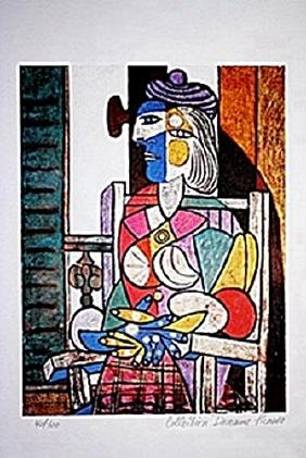 Picasso Limited Edition - Woman Seated By The Window -