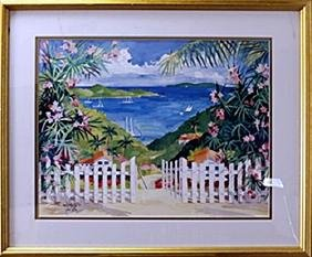 "Lithograph ""Gateway to Paradise"" after Julia Kelly"