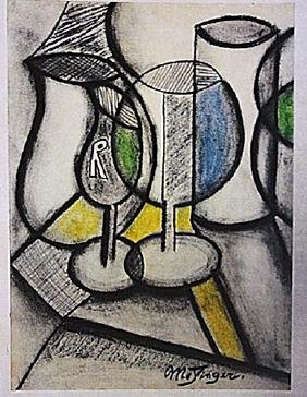 Jean Metzinger - Table With Cups