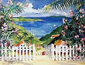 "Lithograph ""Getaway to Paradise""  Julia Kelly"
