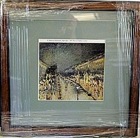 """Framed Lithograph """"Night Effect"""" by Pissarro"""