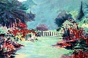 """Serigraph """"French Garden 1""""  Roseanne Brook"""