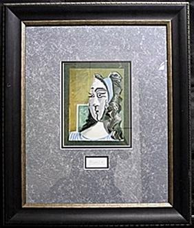 """Lithograph """"Jacqueline 1962""""   Pablo Picasso"""