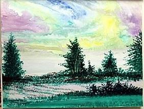 "Original ""Indian Skies"" Oil Painting  William Verdult"