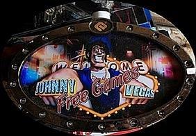 "Vintage ""Johnny Vegas"" Casino Slots Topper. (N)"
