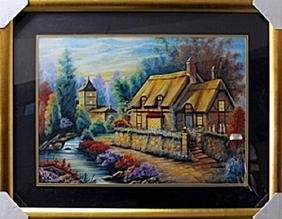 """authentic serigraph """"Becky's Cottage"""" after Michael"""