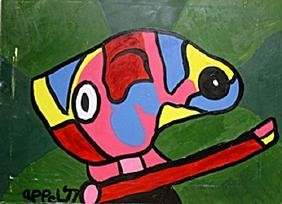 Oil Painting on Canvas  Karel Appel