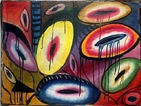 Combat 1937'  Oil Painting  Arshile Gorky