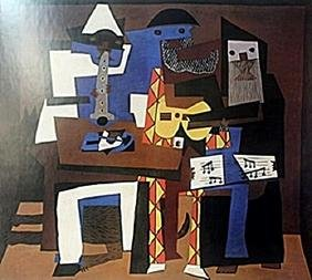 "Print ""Three Musicians""  Pablo Picasso"
