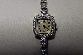 Gorgeous Antique Hamilton Diamonds Platinum Watch