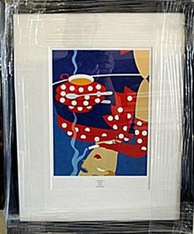 """Framed Lithograph """"reflection"""" By Erte"""