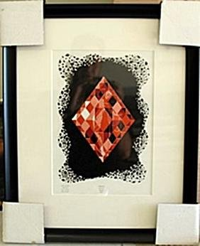 """Framed Lithograph """"the Aces"""" By Erte"""