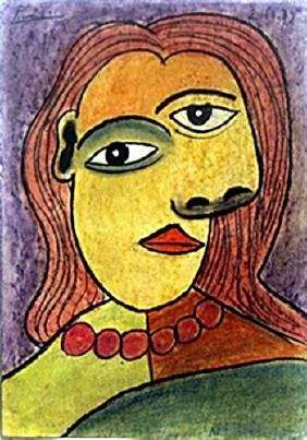 Pastel Drawing Pablo Picasso