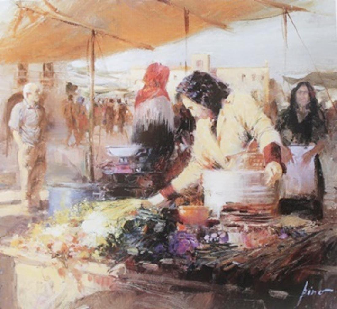 "Giclee on Paper ""Rustic Market""  Pino (7ZI)"