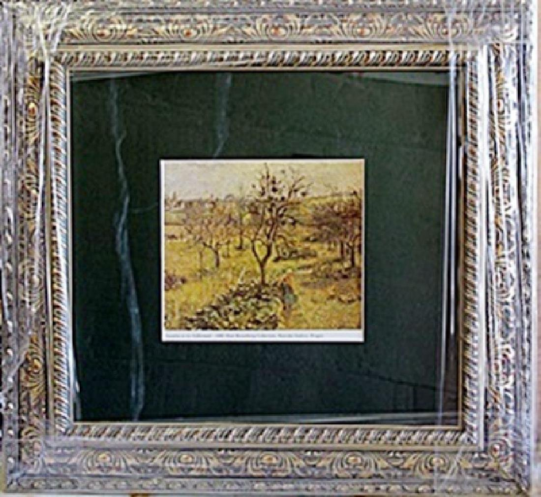 """Framed Lithograph """"Gardens"""" by Pissarro"""