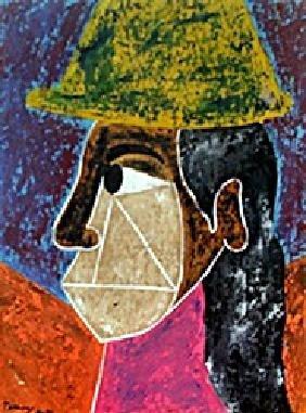 Woman With Hat 1945' Rufino Tamayo