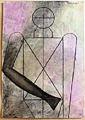 The Soldier Oil Painting On Paper Rufino Tamayo