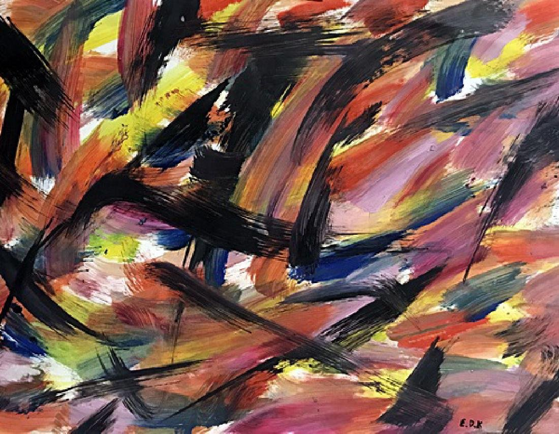 Elaine De Kooning - Oil On Paper