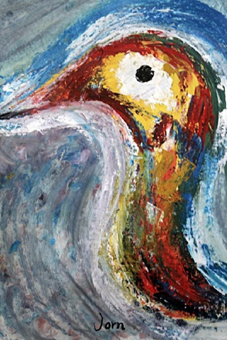 Bird - Asger Jorn - Oil On Paper - 2
