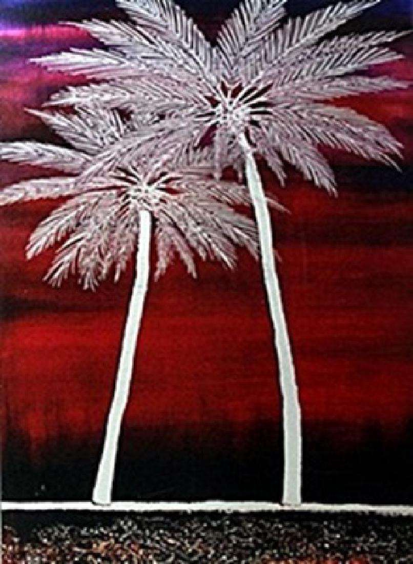 """Lithograph """"Amethys Beach""""  Seika"""