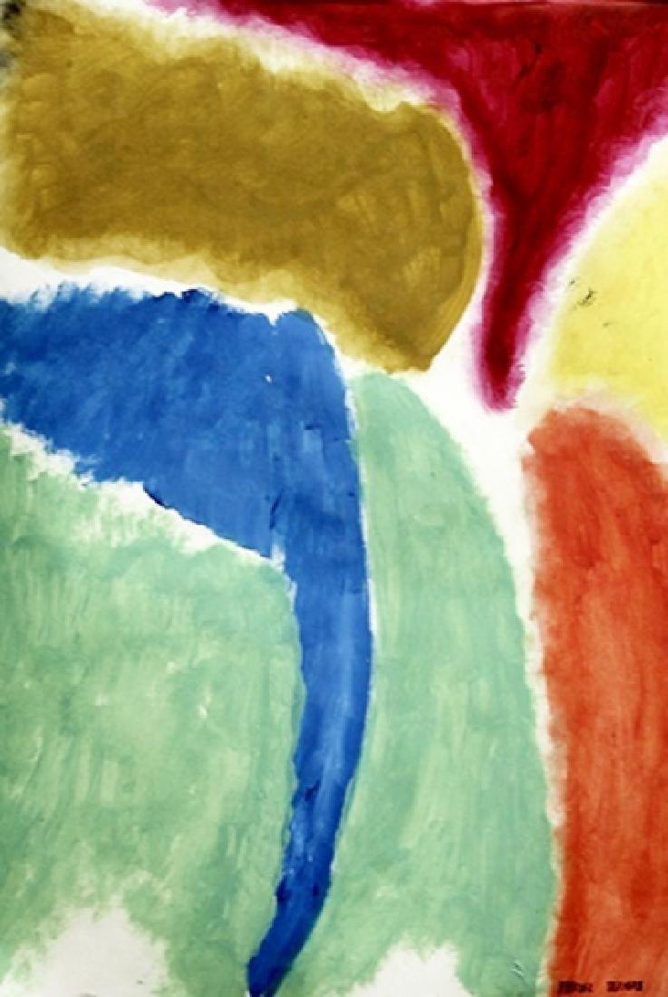 Pyruss - Friedel Dzubas - Oil On Paper