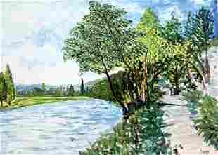 The Canal Saint Martin - Alfred Sisley - Watercolor