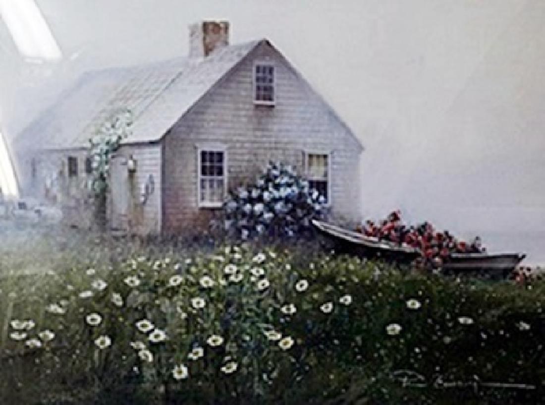 "Lithograph ""Raymond's Cottage""  Paul Landry"