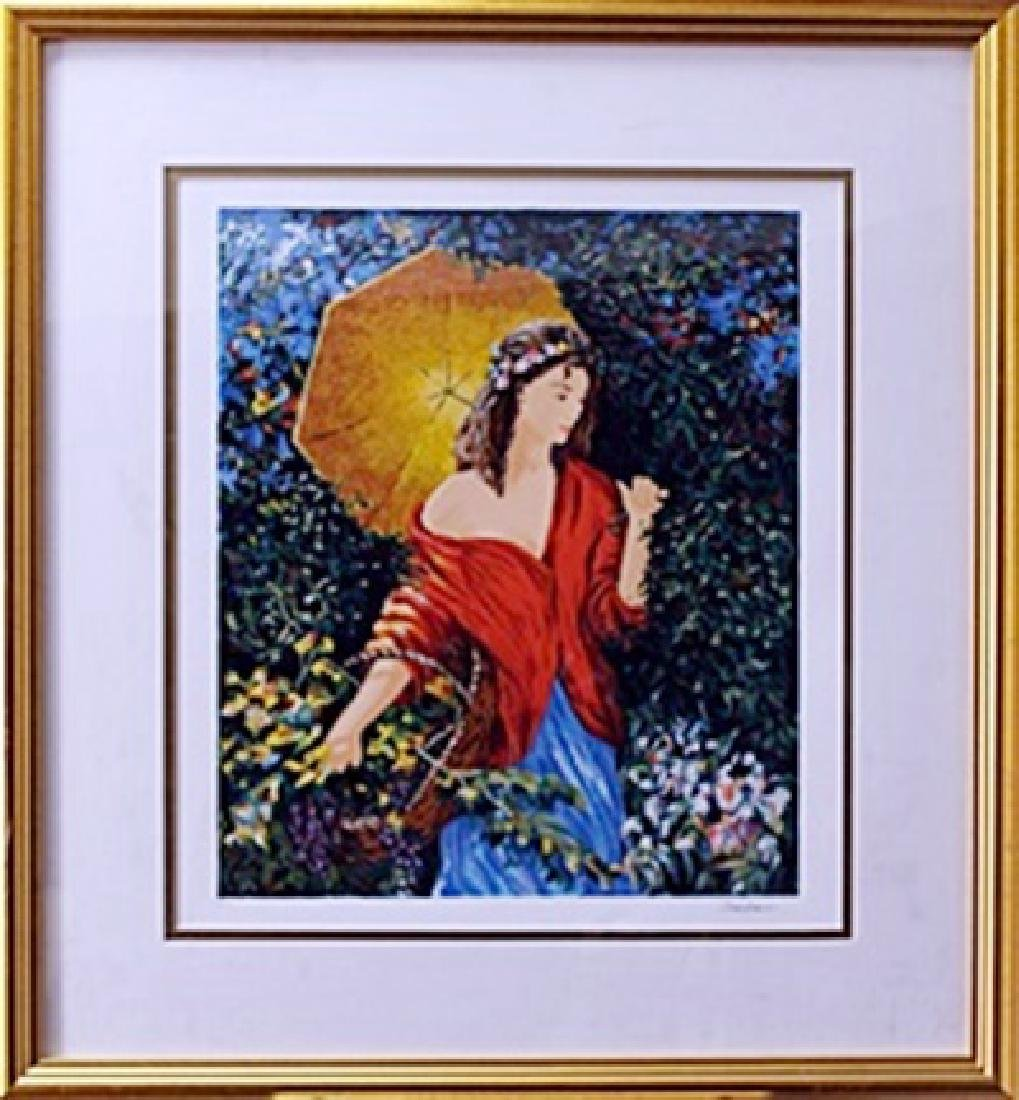 """authentic serigraph """"After The Rain"""" after Semeko"""