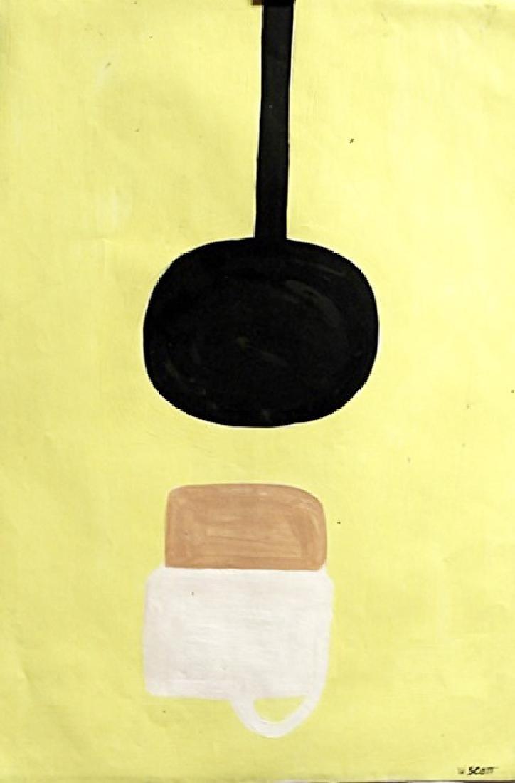 William Scott - Oil On Paper