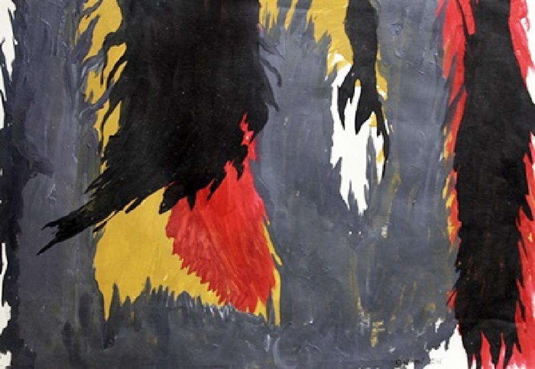 Infinity - Clyfford Still - Oil On Paper