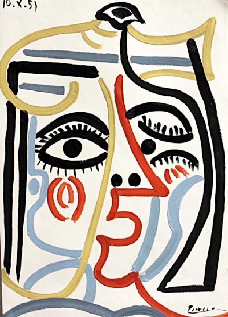 Tete De Femme - Pablo Picasso - Oil On Paper