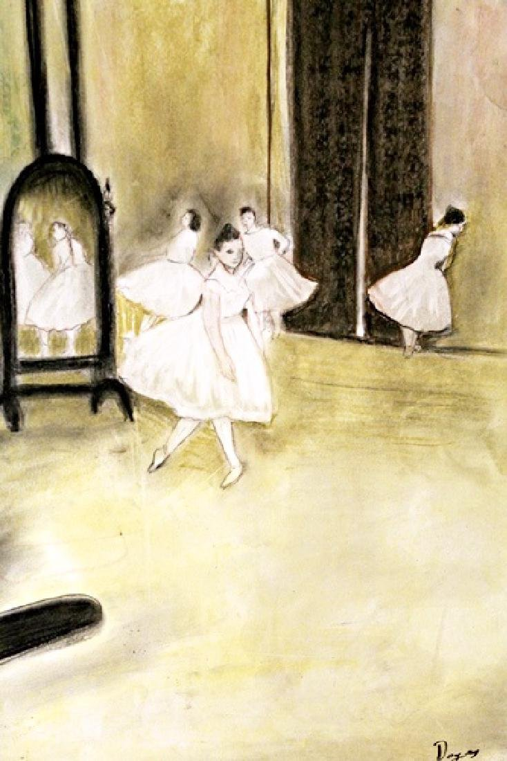 The Dancers - Edgar Degas - Pastel On Paper