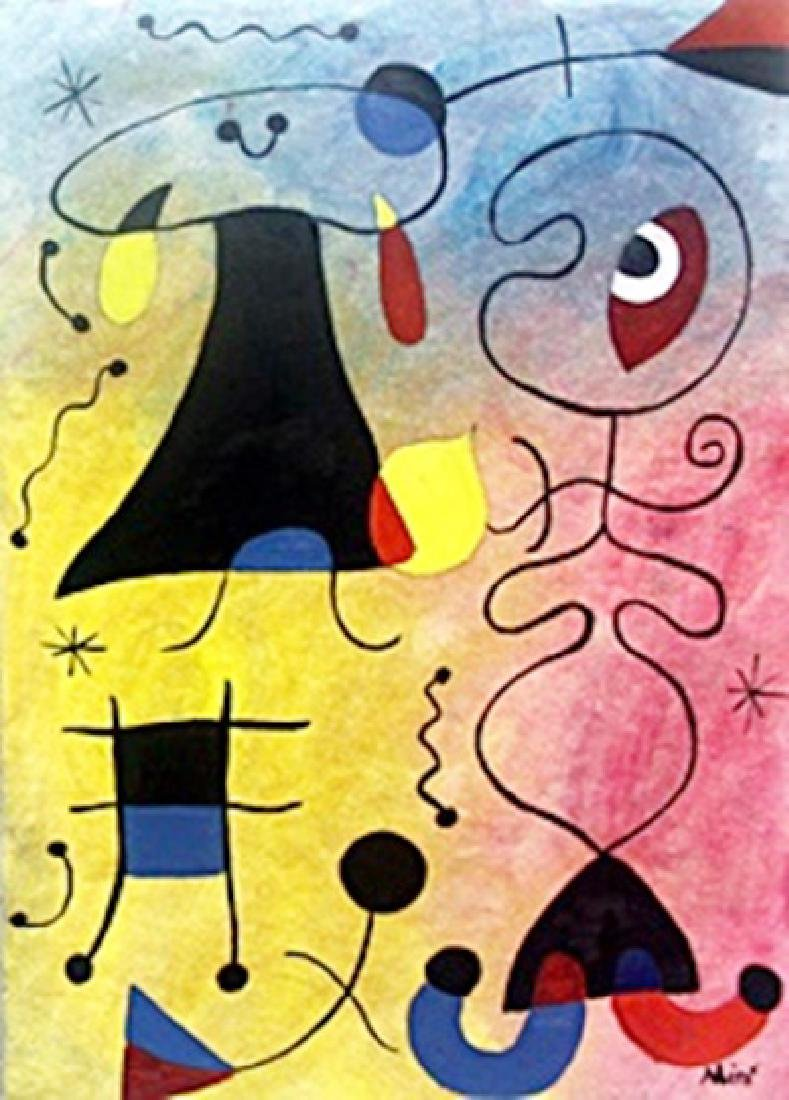 Oil on Paper  Joan Miro