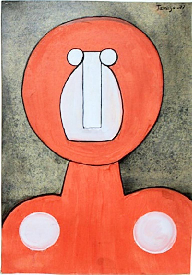 Character  Oil Painting on Paper  Rufino Tamayo