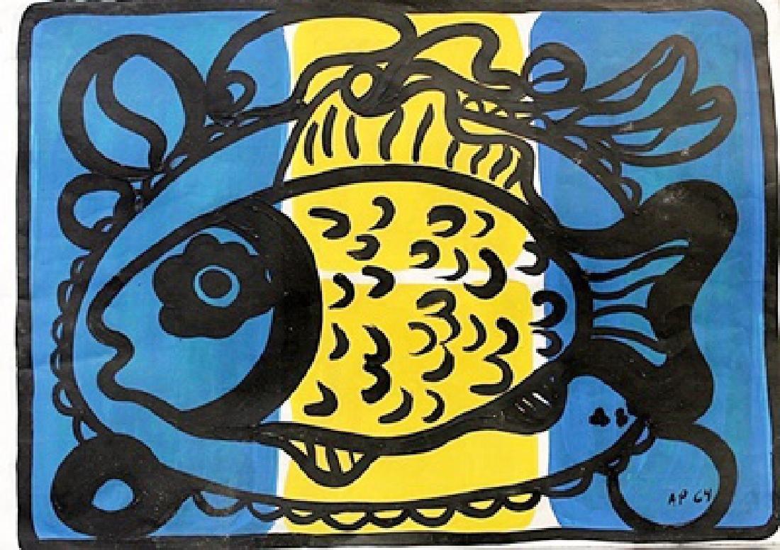 The Fish - Amelia Pelaez - Oil On Paper